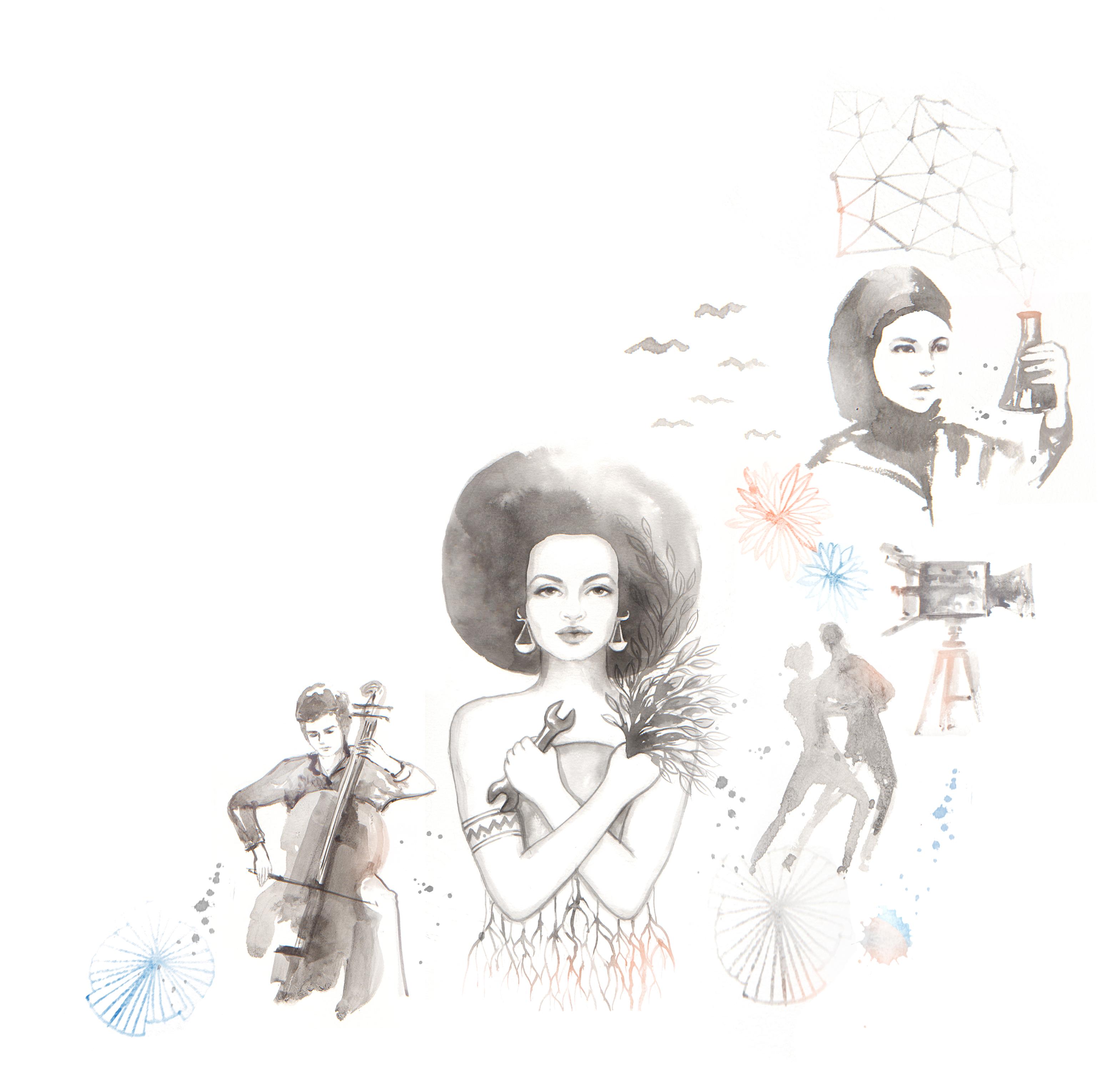 Shuffle Illustration